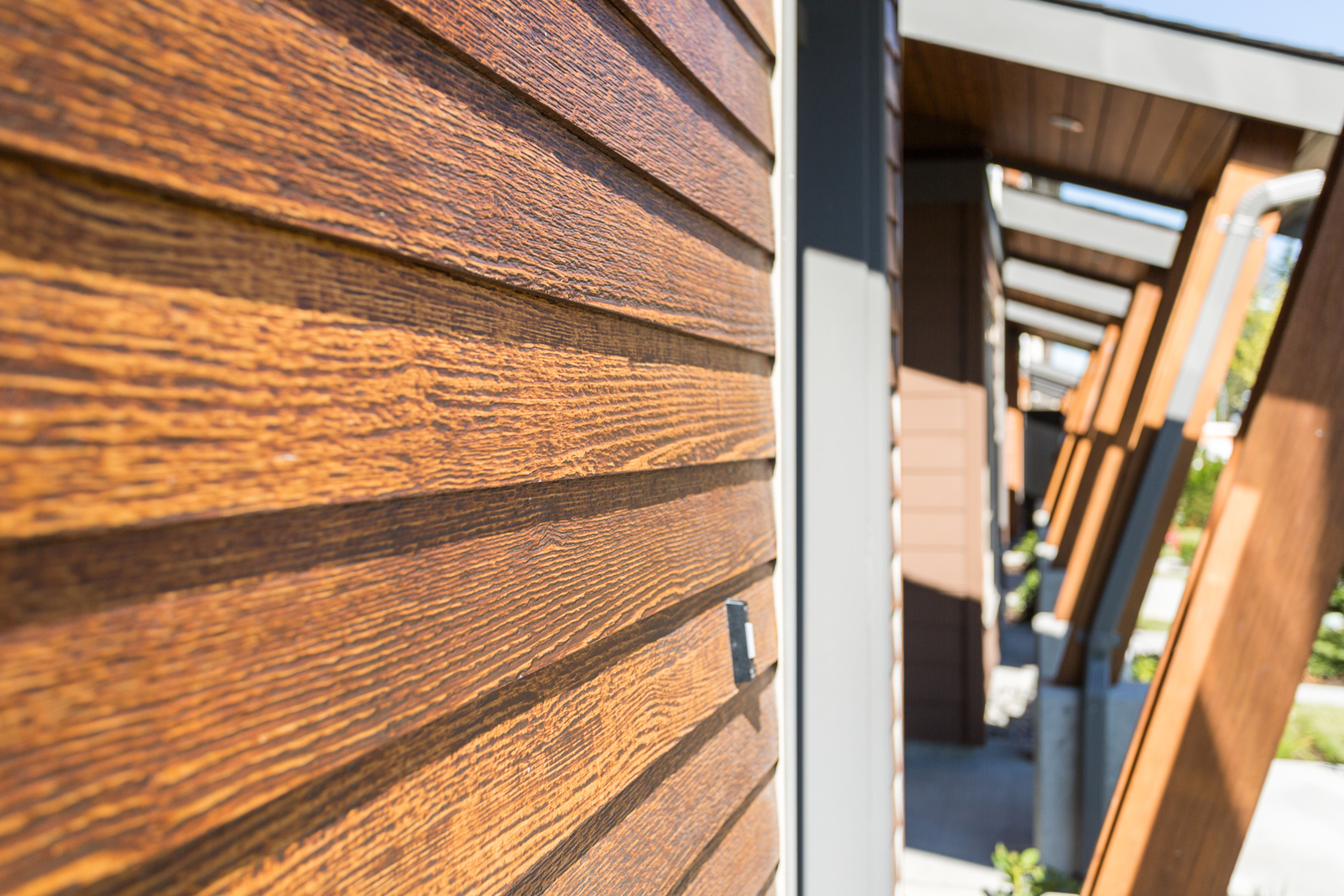 Old Cherry Fiber Cement Siding that Looks Like Wood! | Wood siding exterior,  Wood siding, House siding