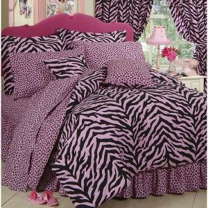 Zebra Print Bed in a Bag - Pink/Black