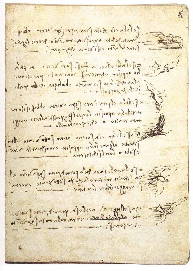 Leonardo Da Vinci C 1452 C 1519 Codex On The Flight Of Birds N D With Images Leonardo Da Vinci