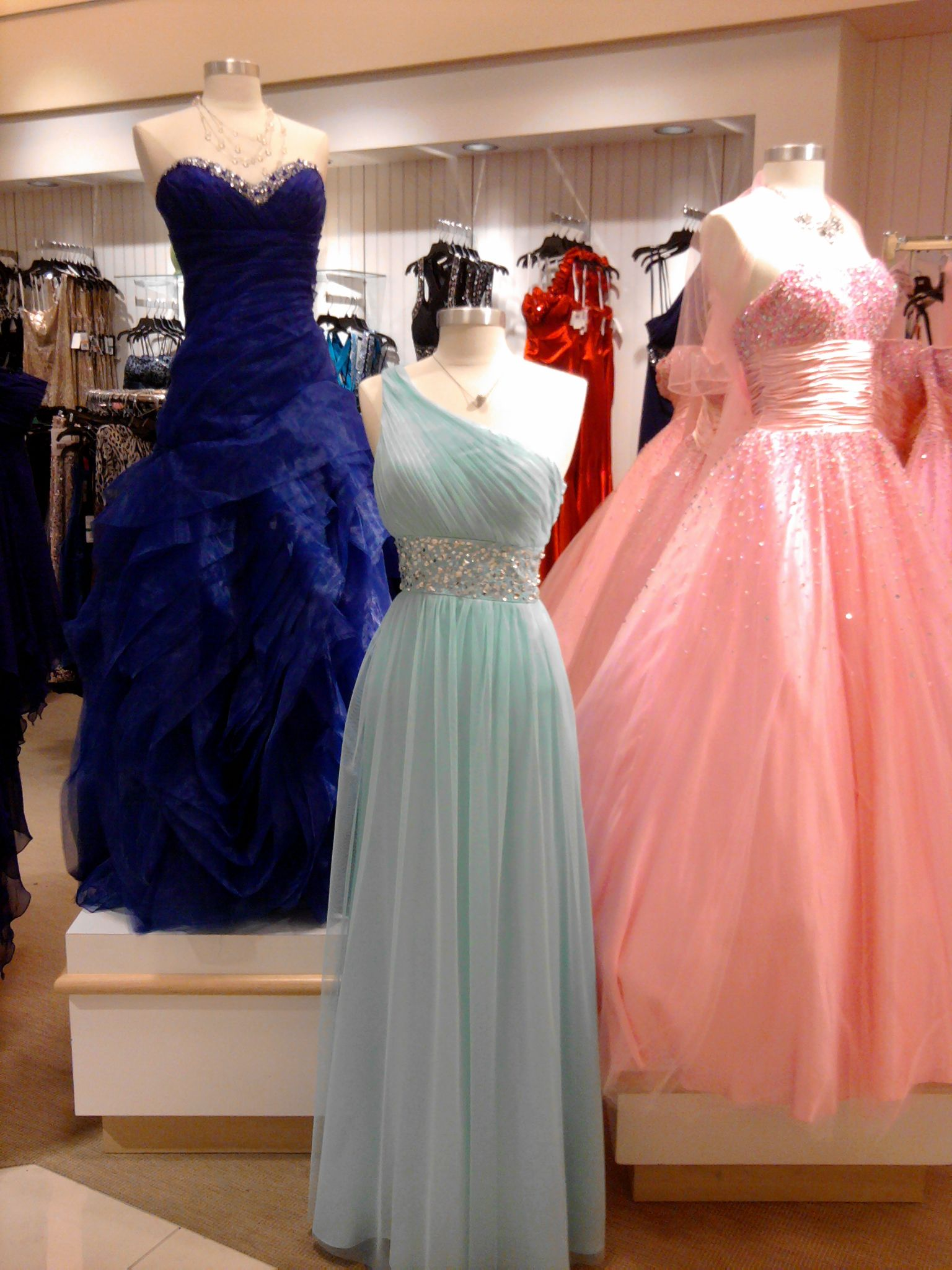 Prom Dresses From Von Maur Last Year Esp Love The Blue One On The Left Dream Dress Prom Dresses Ball Gowns [ 2048 x 1536 Pixel ]
