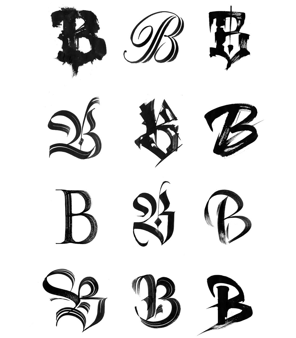"""We got our """"B"""" redesigned, with one for any occasion"""
