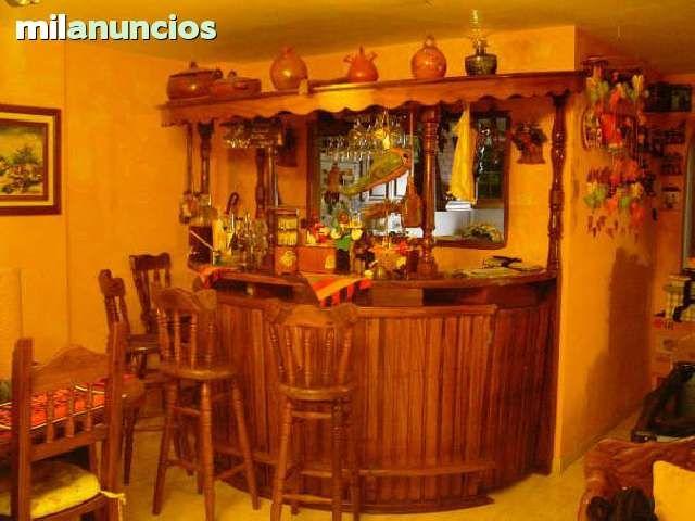 Vendo bar rustico hecho a mano por artesanos de la mejor for Bar hecho en madera