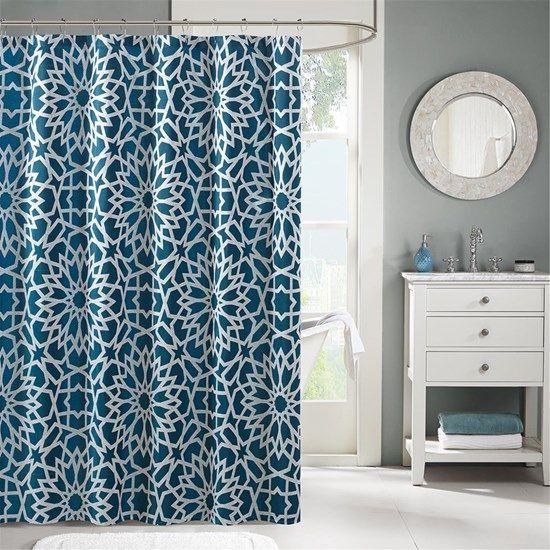 Designer Living   Carlow Jacquard Shower Curtain By Madison Park