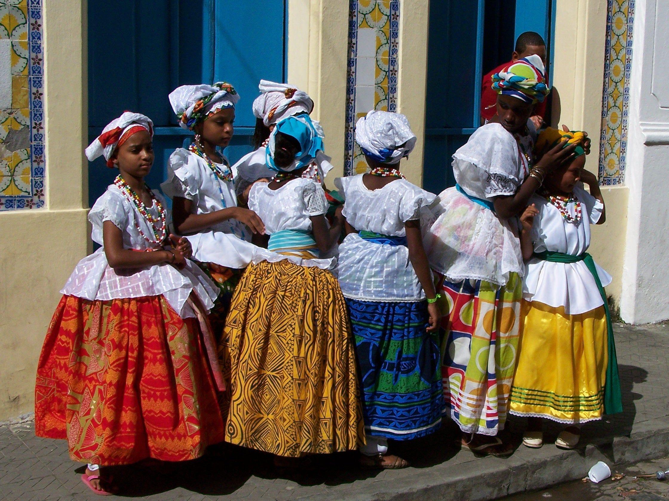 Bahian Woman Traditional Dress Salvador Brazil Stock Photo