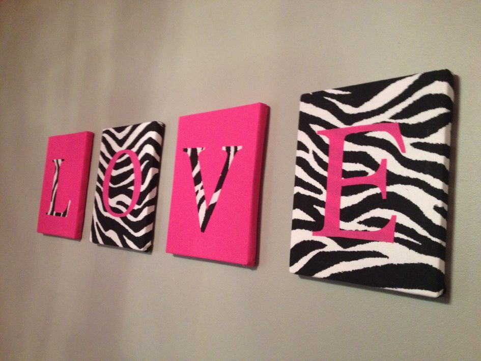 Bedroom Zebra Decor With A Style Wall Hanging That Reads Love For Your House