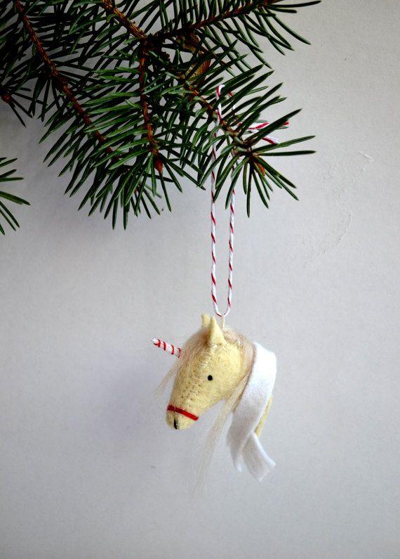 unicornament felt christmas unicorn ornament