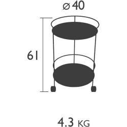 Fermob Guinguette Beistelltisch mit Rollen zitronensorbet Fermob
