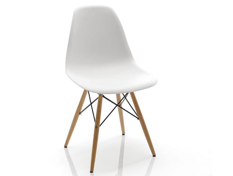 Silla blanca nyoma esta silla blanca esta fabricada con for Silla madera blanca
