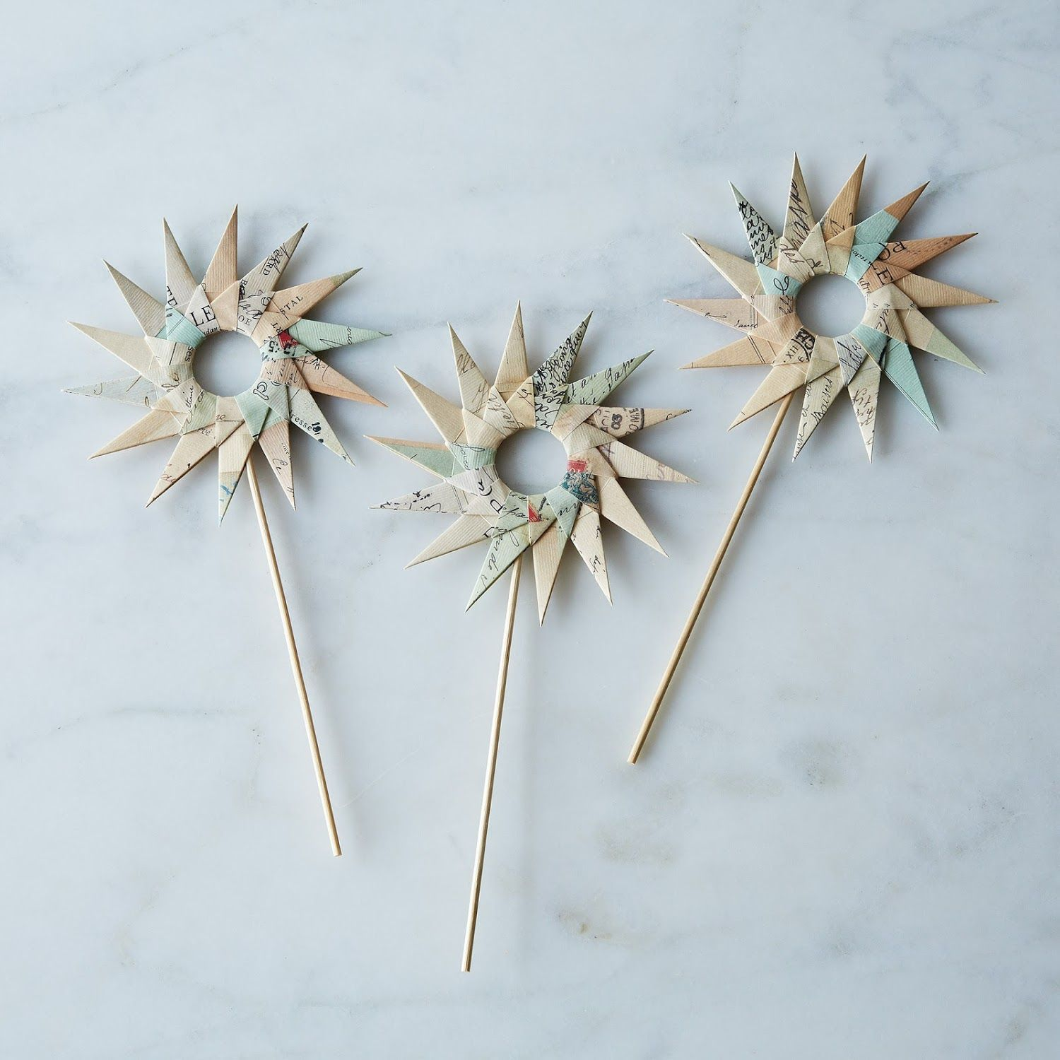 Set of 3 Décor Cake Toppers   Cake toppers, Diy party ...