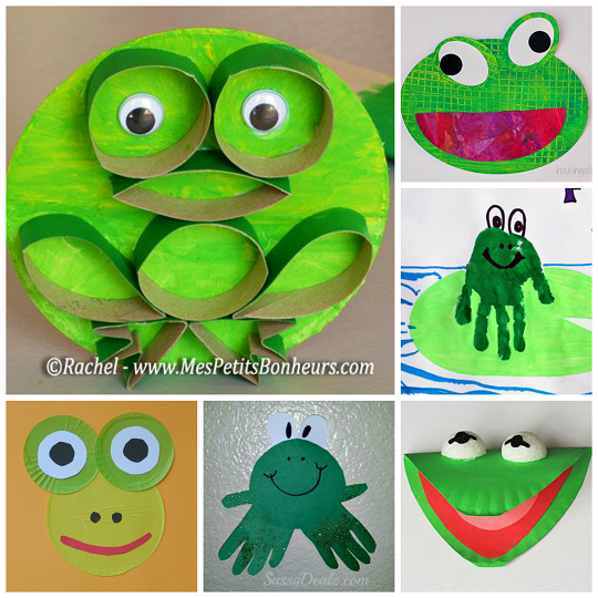 Cute frog crafts for kids to create crafty morning art for Frog crafts for preschoolers
