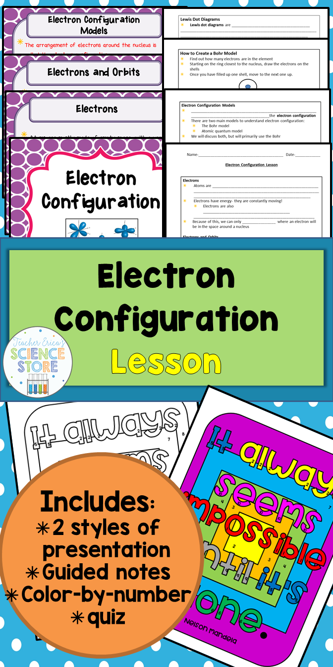 Electron Configuration Lesson | Physical Science | Pinterest ...