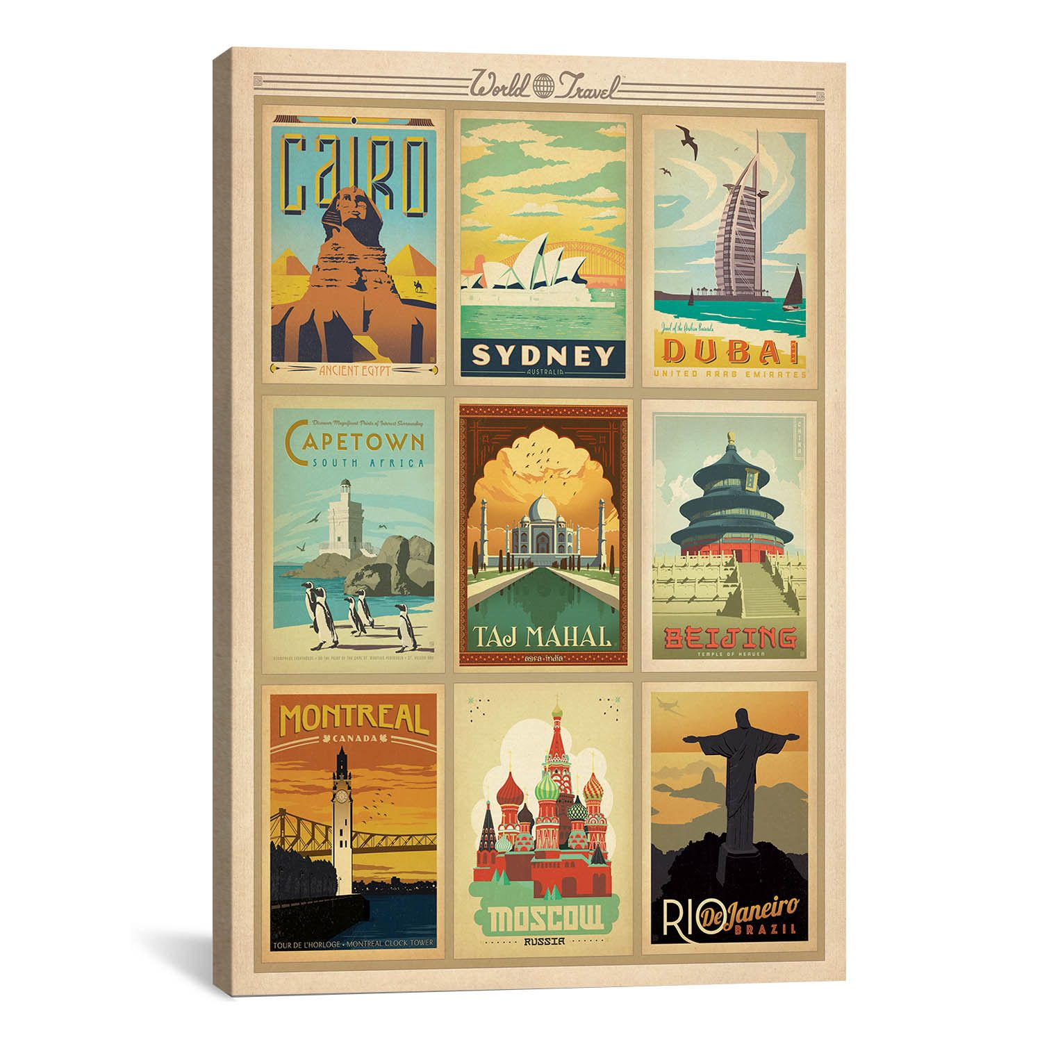 iCanvas World Collection on Canvas by Anderson Design & Reviews ...