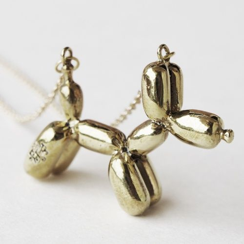 Sakdidet Road Necklace | Brass Balloon Dog | Sakdidet Road | Bloomsbury Store Cute!!!!