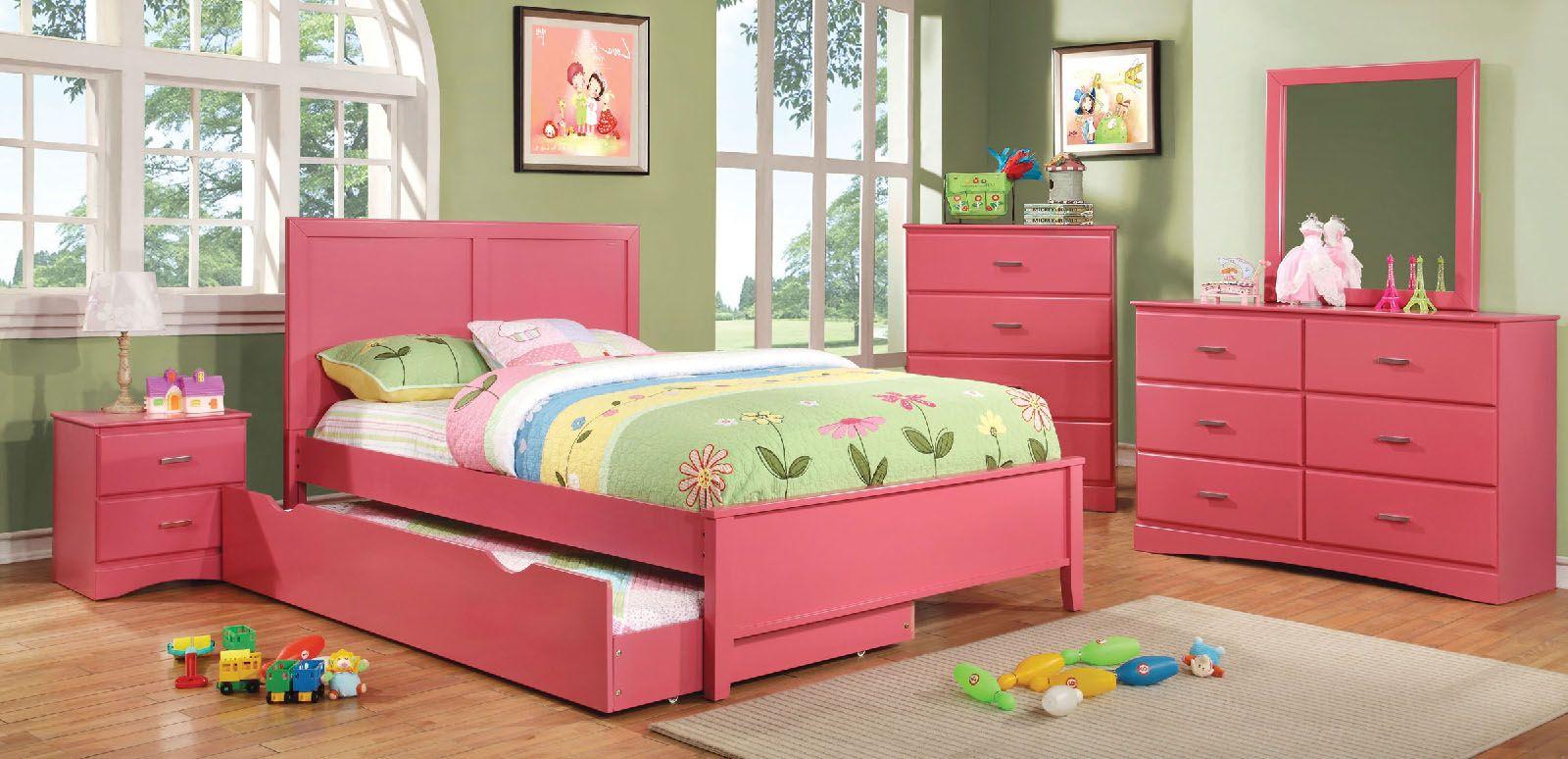 Prismo Pink Wood Bedroom Set Las Vegas Furniture Store Modern Home