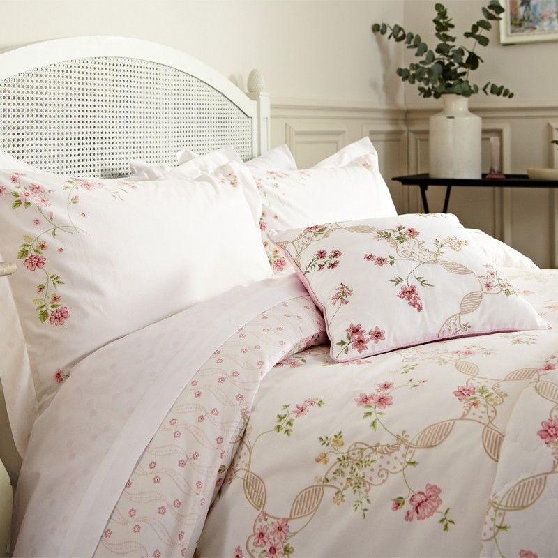 Romantic Bedding | Anna Maria Pink Floral Bed Linen At Bedeck Home
