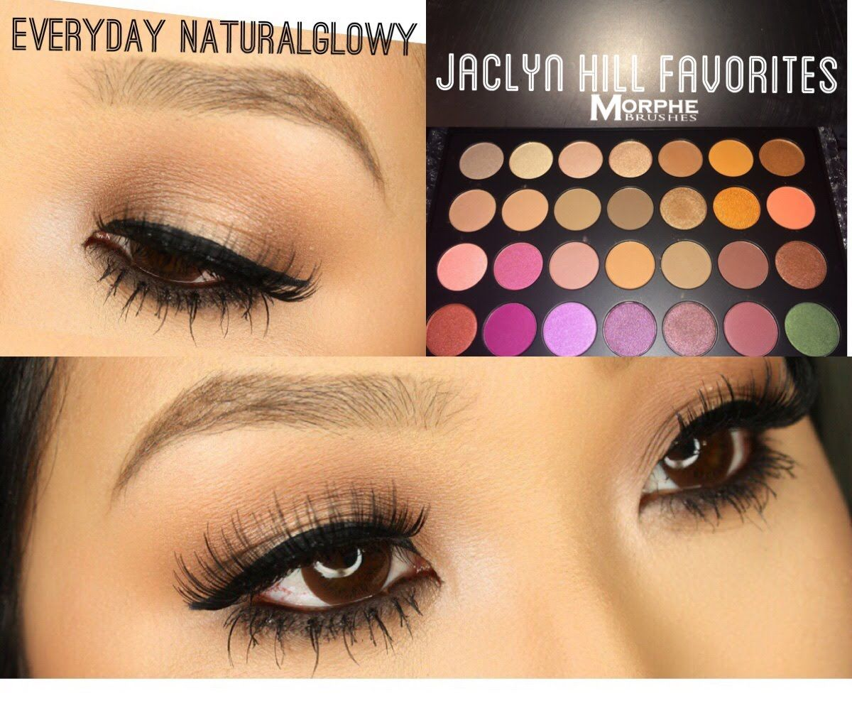 Jaclyn Hill Morphe Palette ♡ Soft Glam Neutral Glowy Look