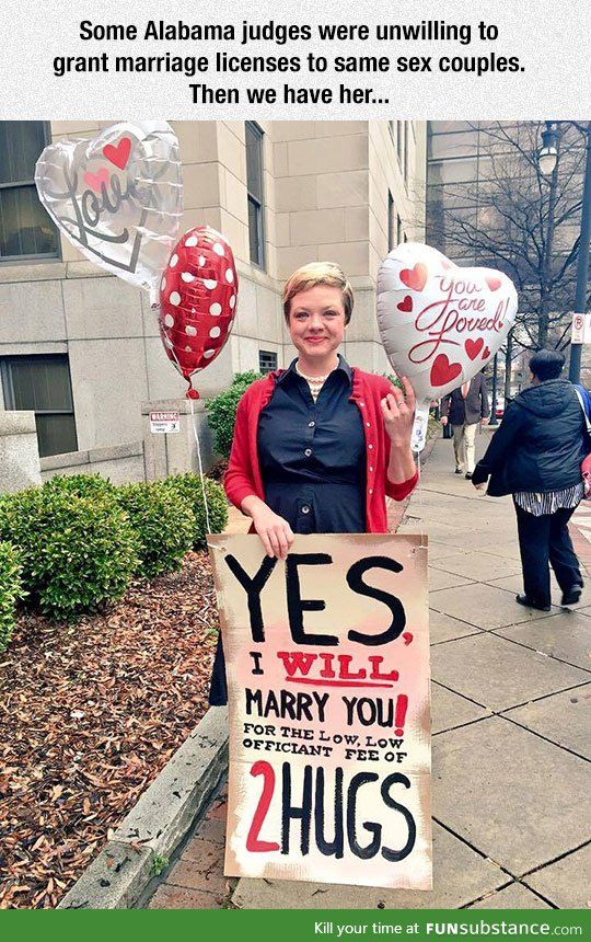 Good for her, and good for HOMOS Faith in humanity