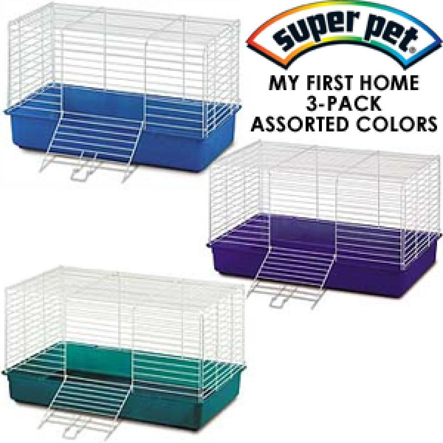 Kaytee My First Home Cage 3 Pack Assorted Colors With Images