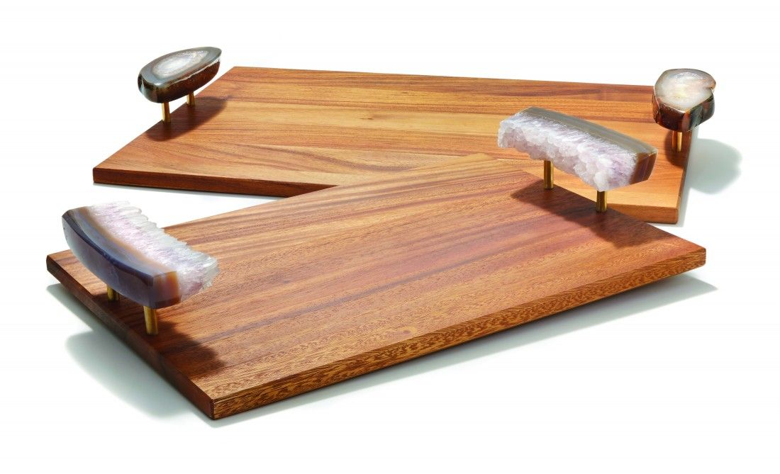 Wooden Decorative Trays Beauteous Bosque Wooden Serving Tray Polished Agathe  Where The Heart Is Design Inspiration