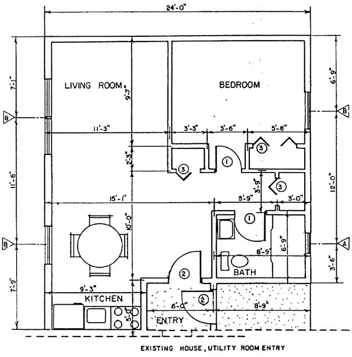 One room home addition plans living addition for Room addition blueprints