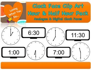 Clock Face Clip Art Hour Half Hour Clip Art Time To The Hour