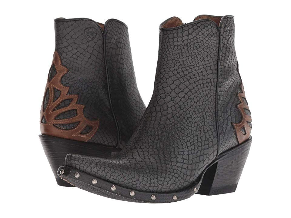 9bf5185a1c3 Ariat Fenix Cowboy Boots Chic Grey/Crackled Tan | Products in 2019 ...