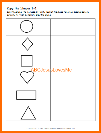 Visual Perception Worksheets for the development of skills at home ...