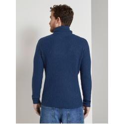 Photo of Tom Tailor Herren Strickpullover mit Schlauchkragen, blau, unifarben, Gr.S Tom TailorTom Tailor