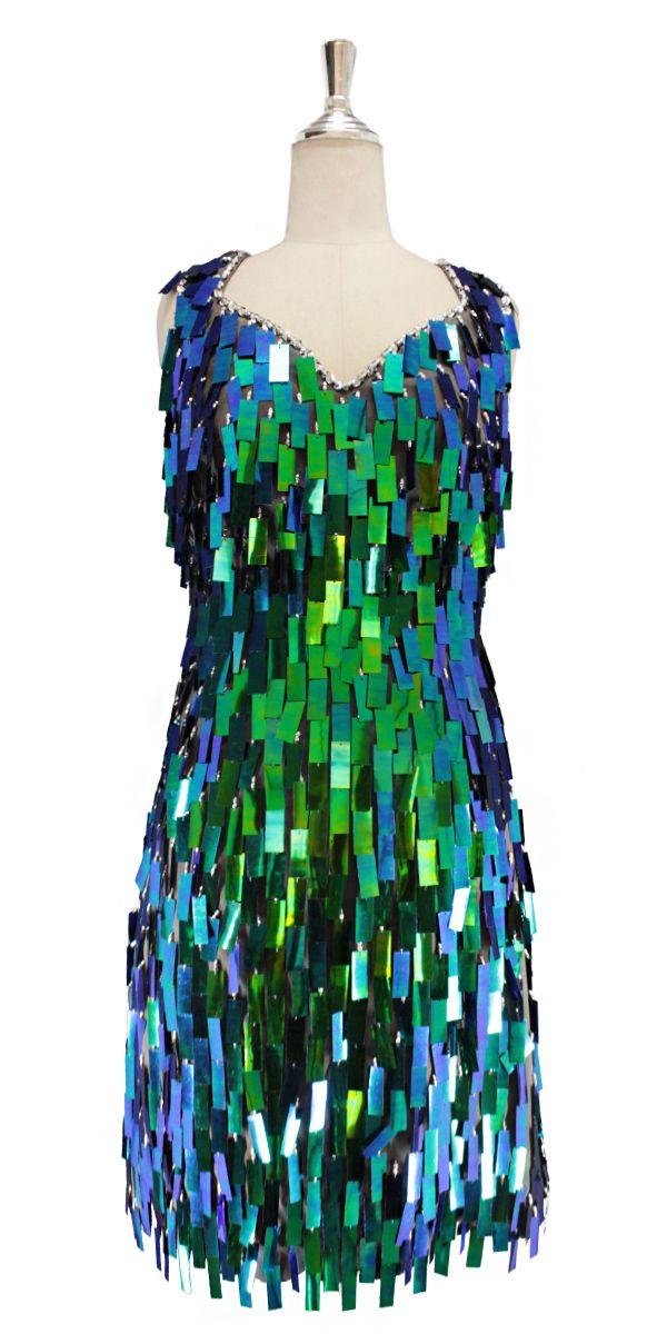 7db2f8d2bc9 Short handmade sequin dress