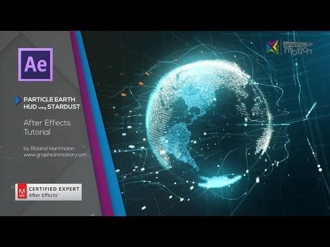 After Effects - Particle Earth HUD using Stardust Tutorial