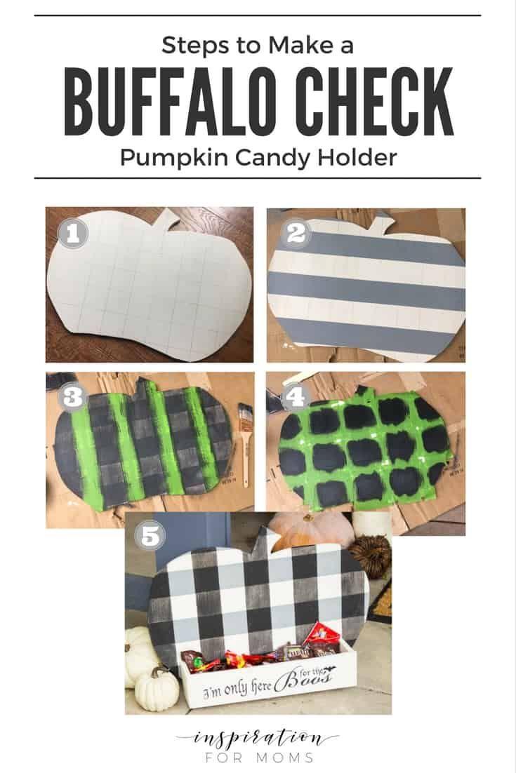 DIY Buffalo Check Pumpkin Candy Holder – Inspiration For Moms