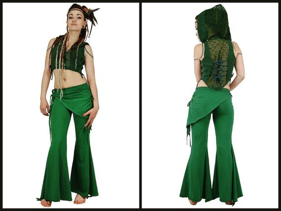 Hey, I found this really awesome Etsy listing at https://www.etsy.com/listing/209845109/forest-green-pixie-pant-flared-bottom-of