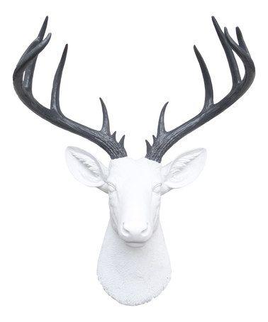 Look what I found on #zulily! White & Gray 14-Point Deer Head #zulilyfinds