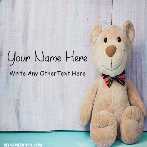 Write Name On Cute Teddy Profile Image Beautiful Teddy Pictures - how to write a profile
