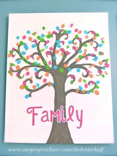 Fingerprint Tree Canvas One Project Closer Kids Canvas Art