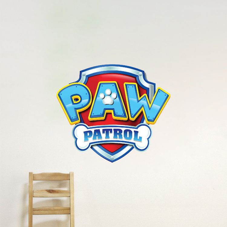 Paw Patrol Logo Wall Decal Paw Patrol Kids Bedroom Wall Decal
