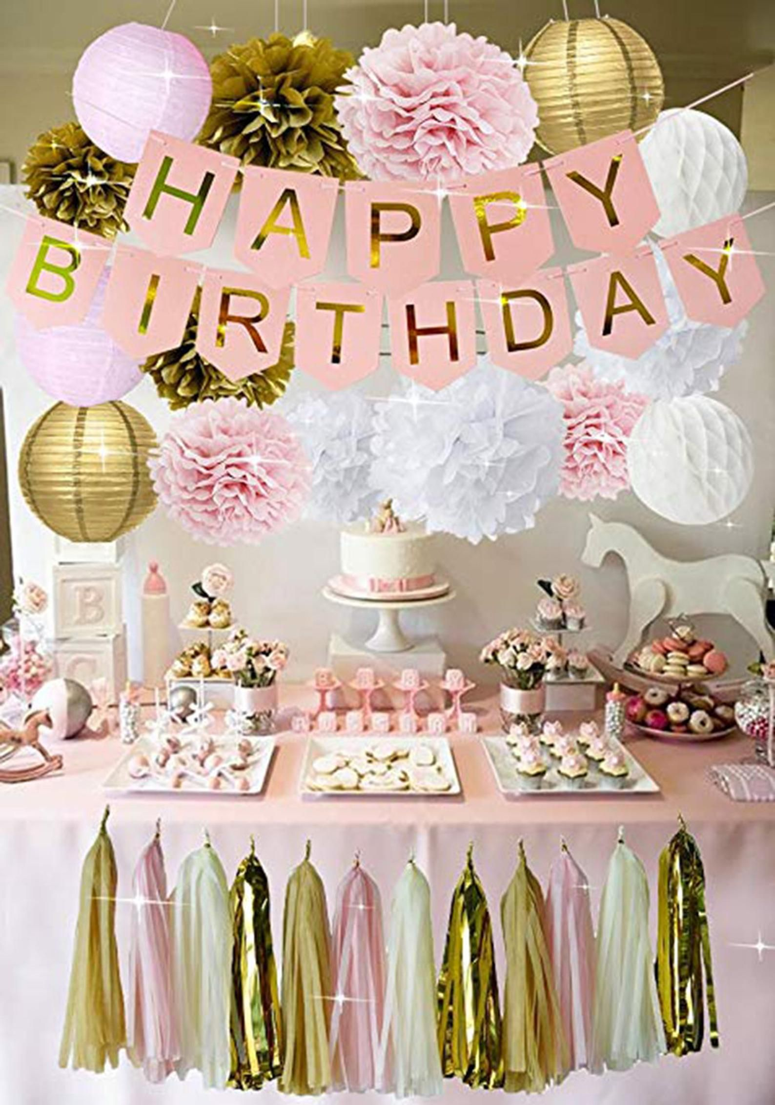 Girls parties Girl/'s birthday Sweet Sixteen birthday Hot Pink Quince 15th Party Signs for parties Backdrop Sweet 16 Party Backdrop