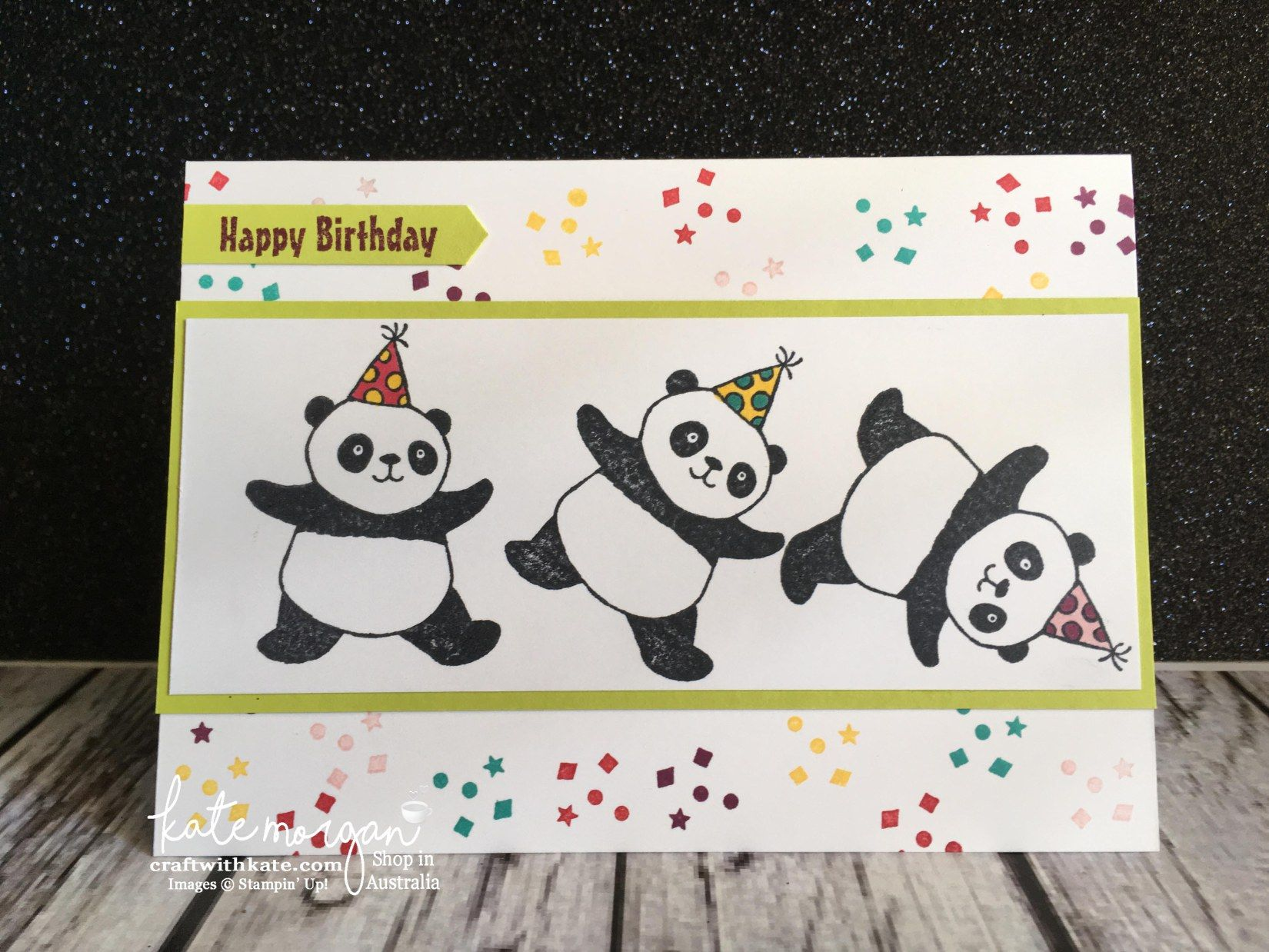 Sneak Peek Of Party Pandas Panda Australia And Kids Birthday Cards