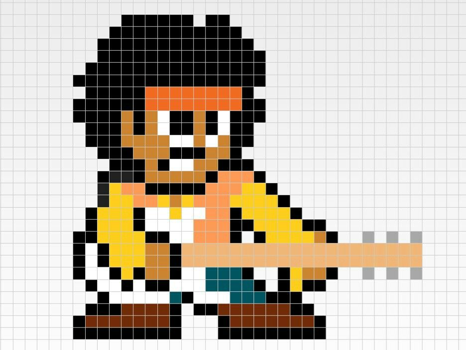 Jimi Hendrix Pixel Art