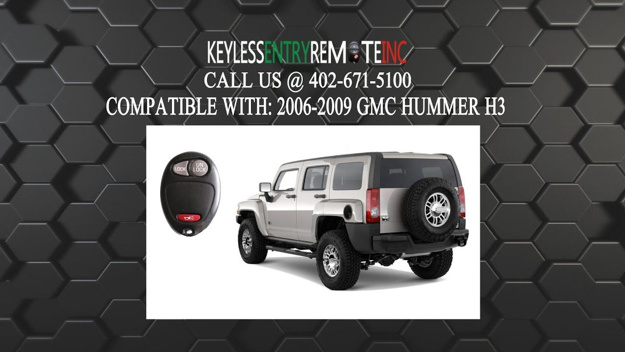 How To Replace A Hummer H3 Key Fob Battery 2006 2010 Hummer H3 Hummer Key Fob