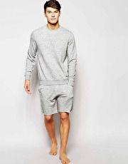 Asos Loungewear Set With Raw Edge Detail Co Ord Mens