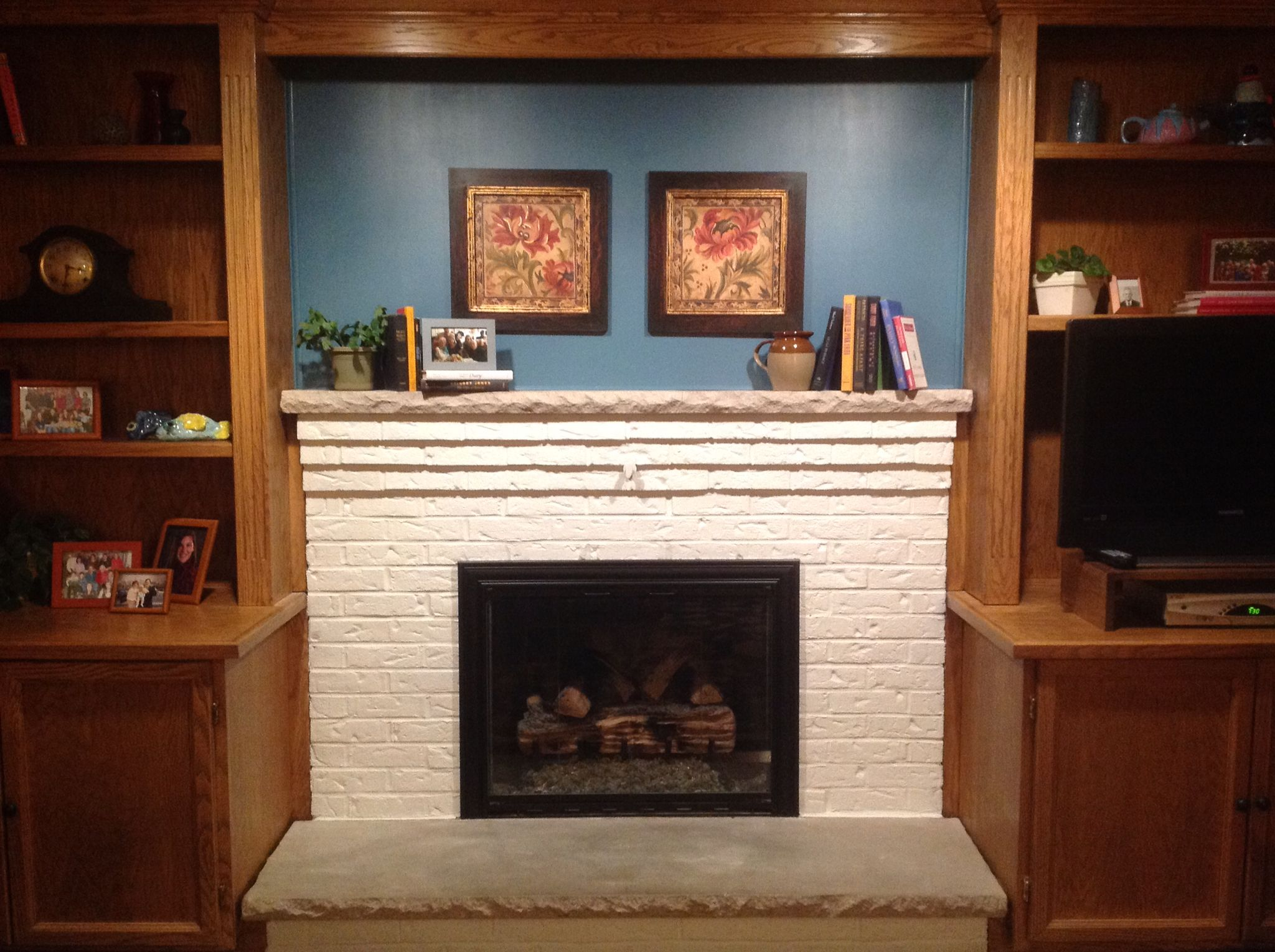 Fireplace and built-ins makeover