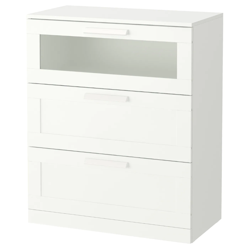 Brimnes 3 Drawer Chest White Frosted Glass 30 3 4x37 3 8 Ikea 34x37 3drawer Brimnes Chest Frosted Glass Ikea White In 2020 Brimnes Kommode Ikea Kommode