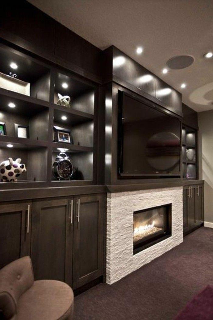 Kamin Einbauen Eine Funkzionelle Entscheidung Keller Wohnzimmer Wohungsdekoration Und Kamin Tv Wand
