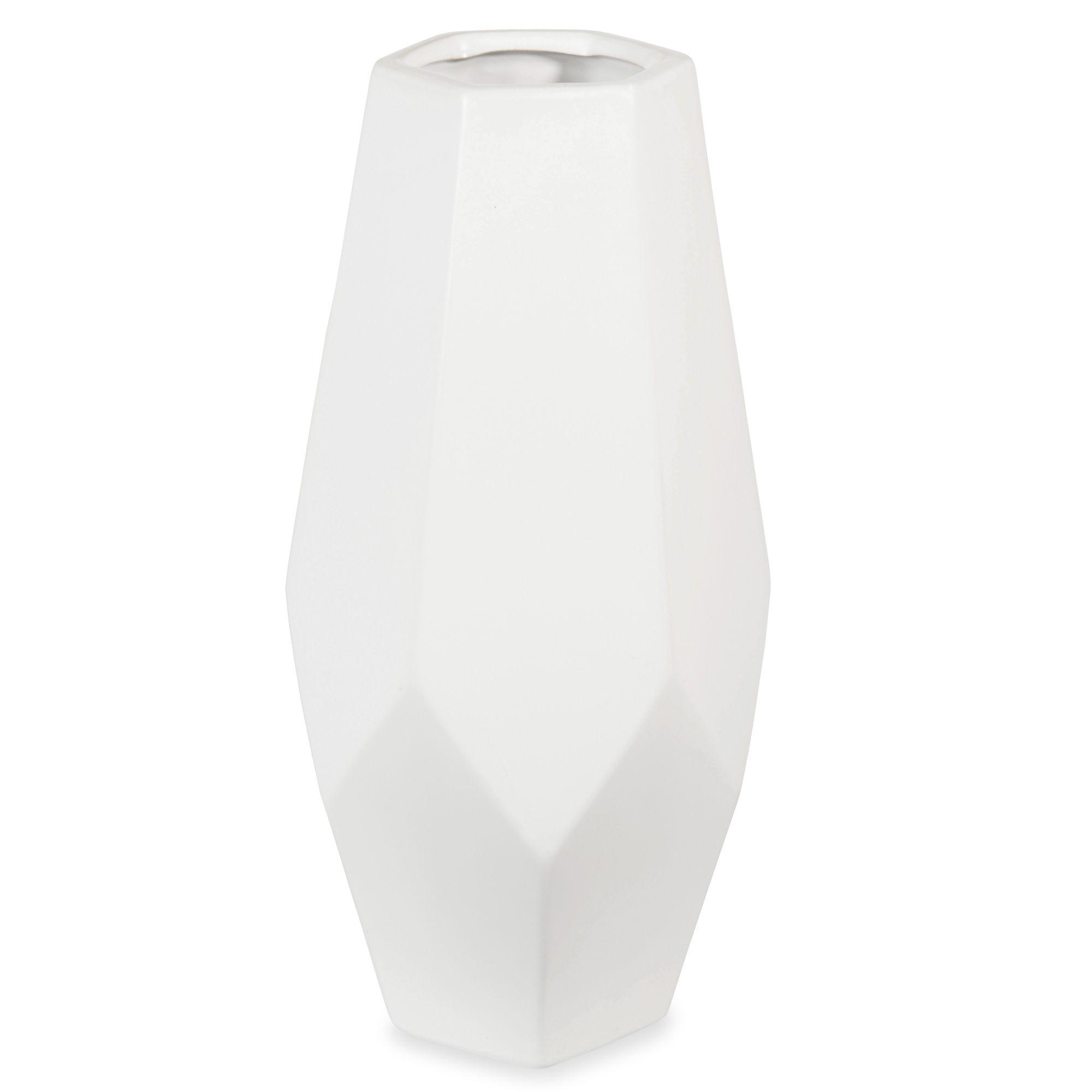 vase en c ramique blanc h 34 cm hanneli maison du monde. Black Bedroom Furniture Sets. Home Design Ideas