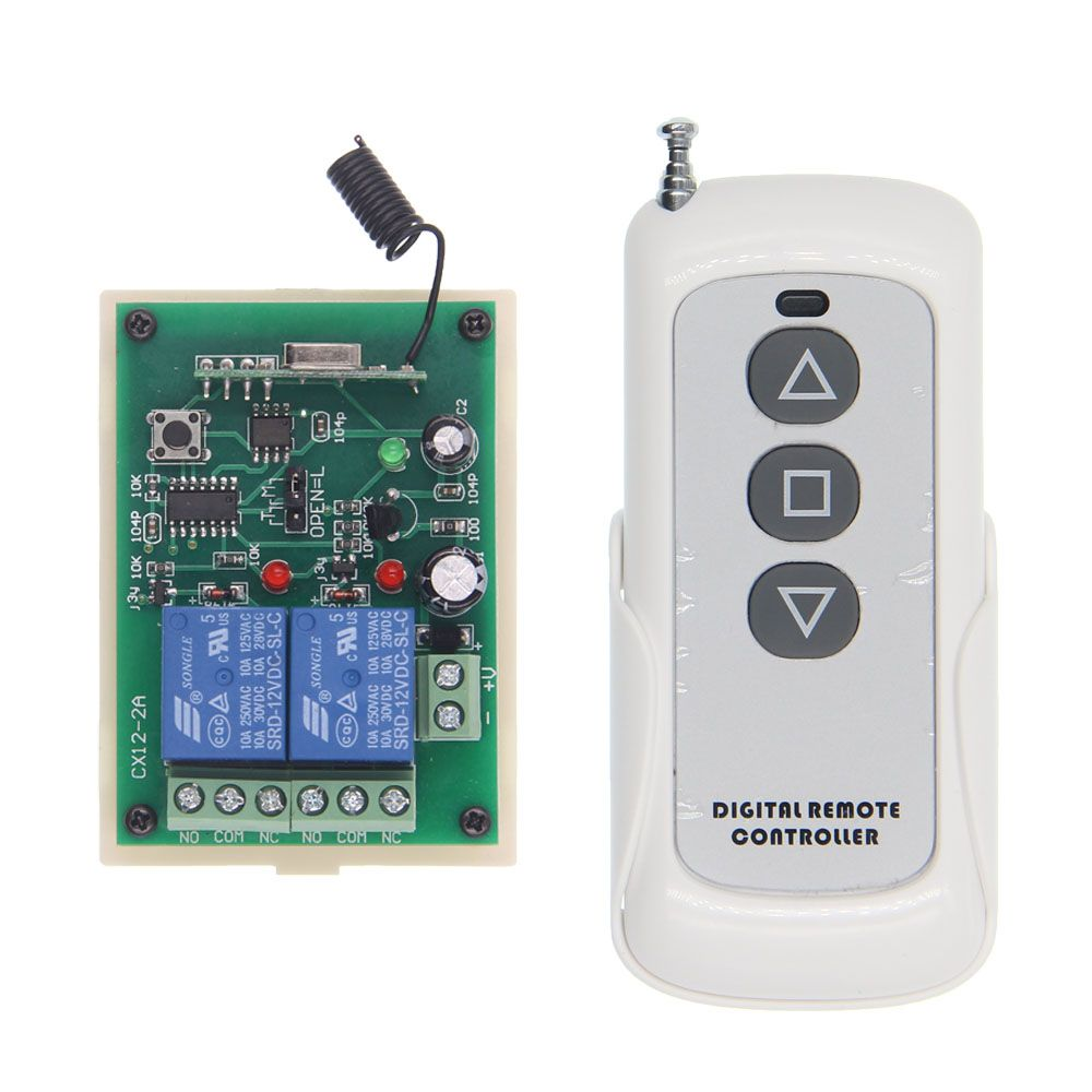 500m Motor Remote Switch Controller Dc 12v 24v Motor Screen Forwards Reverse Up Down Wall Transmitter Lights Electrical Equipment Electricity
