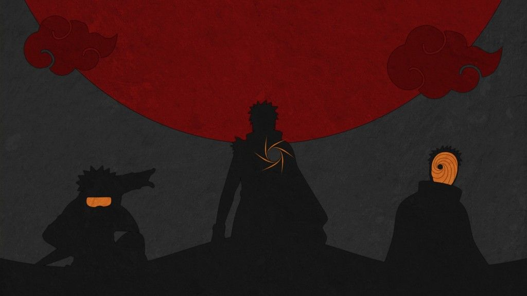 Uchiha Obito Of Naruto Shippuuden Anime Minimal Wallpaper With