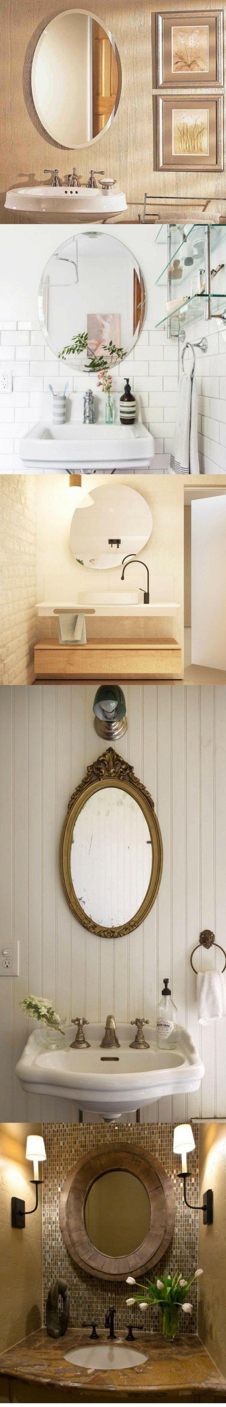 40 Popular Bathroom Mirror Ideas Vanity Twin Mirror Modern Rustic Unique Bathroom Ideas Mirr In 2020 Bathroom Mirror Round Mirror Bathroom Oval Mirror Bathroom