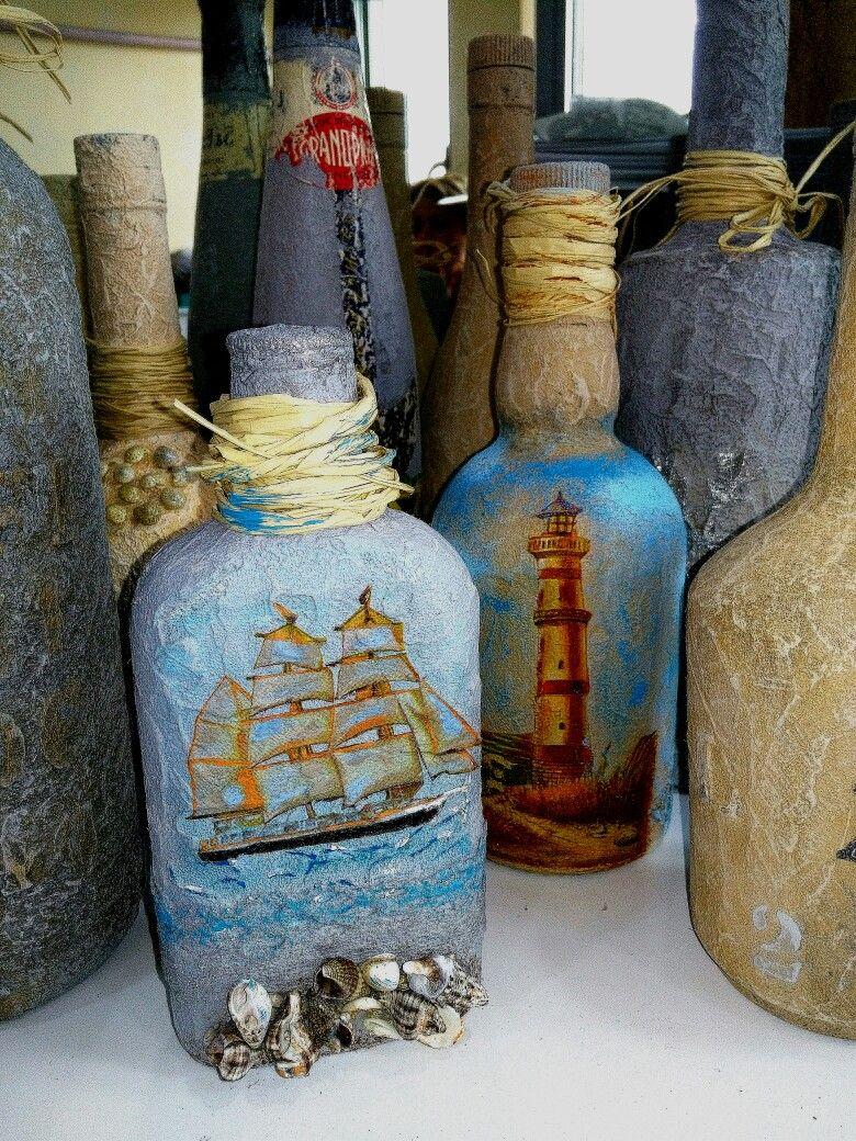 Beton Stone Effect Cam şişe Glass Bernahobi