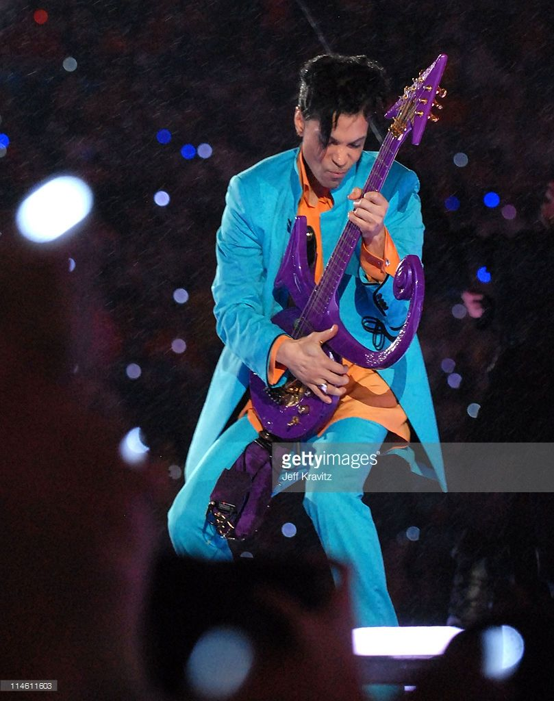 Prince during Super Bowl XLI - Indianapolis Colts vs Chicago Bears - Half Time Show at Dolphins Stadium in Miami, Florida, United States.